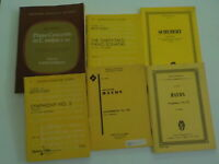 Set of six (6) classical music book scores Haydn, Mozart, Beethoven, Schubert