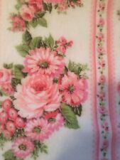 VTG ESMOND Blanket Thermal Floral Nylon Trim Polyester Country Shabby  Chic EUC