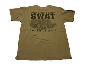 2007 SWAT Florida Round Up T-Shirt Size L Police Officer Training Challenge
