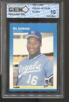1987 Bo Jackson Fleer #369 Gem Mint 10 RC Rookie Royals
