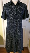 MARKS AND SPENCER - Shirt DRESS UK10 IMMACULATE Polka Dot Work Party Holiday