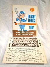 1967 Detroit Tigers Spring Guide & Scorebook & Facsimile Signed Team Photo