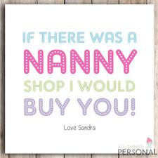Nanny Mothers Day Card Grandmother Birthday Granny Grandma Nan