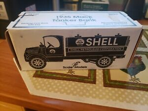 1935 Mack Tanker Locking-Bank Die-Cast Model Shell Oil Truck