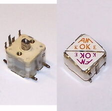 TESTED AM FM 4 section PV tuning variable capacitor transistor radio cap w/ KNOB