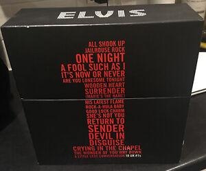 Elvis Presley 18 UK No1s Vinyl Record Complete Box Set Limited Edition Singles