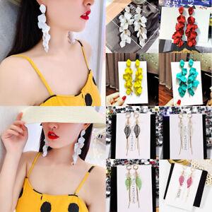 Fashion Pearl Long Tassel Jewelry Earrings Stud Earring Drop Earrings Rhinestone