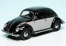 Schuco 1/43 VW Brezelkäfer, Grey/Black - 450387700