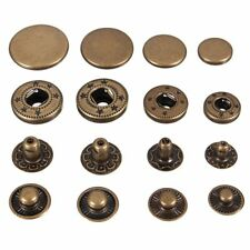 Snap Fasteners/Popper Press Stud Sewing Leather Button, Brass 10Mm 30Pcs X6P3