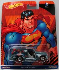 HOTWHEELS DC COMICS SUPERMAN CUSTOM 52 CHEVY  ALLOYS AND REAL RUBBER TYRES