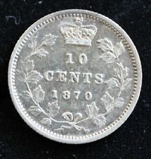 CANADIAN SILVER 1870 NARROW 0 DIME TRENDING $200+