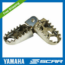 FOOTPEGS STD YAMAHA 85 125 250 400 450 YZ YZF WRF TITANIUM FOOT PEGS REST SCAR