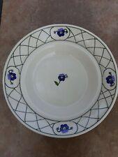 "Hartstone Pottery Pansies & Lattice Pasta Serving Bowl - Large 14 1/2"" Signed"