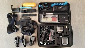 GoPro HERO4 Silver with many accessories and 32GB memory