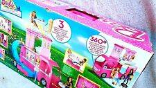 BARBIE: POP UP CAMPER (CJT42). THE TALLEST EVER, 3 LEVELS, FURBISHED. BRAND NEW""