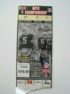 Giants Manning Favre Packers 2007 NFC Championship USED Original Tix Ticket Stub