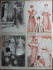 WOODRUFF Modes 1921 4 lithos Beer Doeuillet Lavin Poiret Worth Gazette Bon Ton
