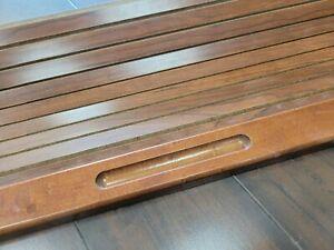 """Wood Roll Top desk REPLACEMENT door  27 3/4"""" wide, 16 1/4"""" high."""