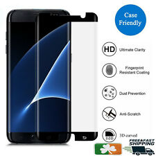 Samsung Galaxy S7 Edge CASE FRIENDLY 4D Clear HD Tempered Glass Screen Protector