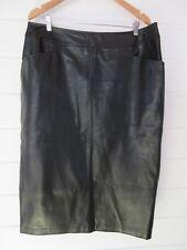 Marina Sport By Marina Rinaldi Plus Size Knee Length Faux Leather Skirt - 16-18