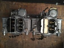 Vintage Edlebrock Tunnel Ram Manifold And Carbs  For SBC