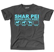 T-Shirt SHAR PEI HÖREN AUFS WORT by Siviwonder Unisex