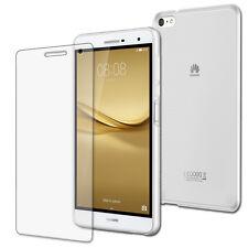 9H Panzerglas Folie+ Silikon Tasche Huawei Mediapad T2 7.0 Pro Crystal Case-TPU