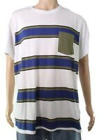 American Rag Mens T-Shirt Classic White Size 2XL Graphic Striped Tee $25- 316