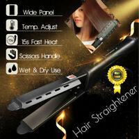 Ceramic Tourmaline Ionic Flat Iron Hair Straightener Professional Glider New