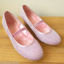 PINK GLITTERY GIRLS DRESS-UP PARTY HEEL SHOES | Accessorize Angels | Size 13