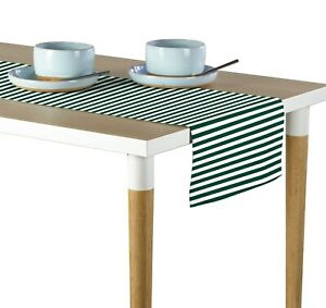 """Small Stripes Green Table Runners - 12""""x72"""" or 14""""x108"""""""