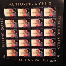 """Mentoring a Child"" U.S. Postal 34c Commemorative Stamps, Full Sheet $6.80 Face"