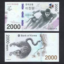 2017 SOUTH KOREA 2,000 2000 WON P-NEW UNC *2018 WINTER OLYMPIC COMM NO FOLDER*