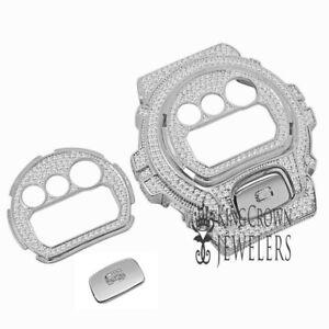 Face Plate + Bezel + G Button 3 Piece Combo Set White Gold G-Shock DW-6900 Watch