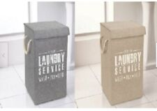 Premium Laundry Basket 31cmx31cmx52cm includes a Lid in a choice of Grey/Beige