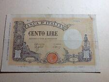 """28b) Lire 100 Grande """"B"""" (Fascio) 9-12-1942"""