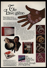 1968 ZALES Jewelers - Jewelry - The Love Game - Telephone Booth - VINTAGE AD