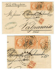 France - Steamer cover - 1866 Le Havre to Valparaiso (CH)