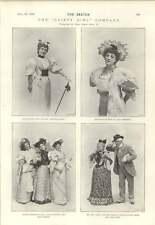 1894 Miss Lottie Venne Maud Hobson Eric Lewis Blanche Massey Gaiety