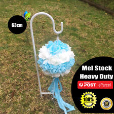 10 x 63cm White Wedding Party Garden Shepherd Hook Crook Lantern Flower Holder