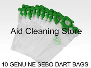 10 Genuine Sebo Felix & Dart Series Vacuum Cleaner Hoover Bags 7029ER