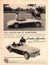 1959 Austin Healey 100-6 BMC Hambro Blind Brook Polo Club Purchase NY Print Ad