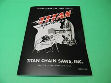 TITAN SPORTSMAN CHAINSAW INSTRUCTIONS AND PARTS  MANUAL --------- MAN185A