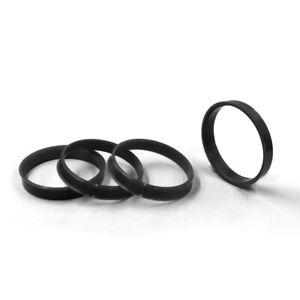4 Hub Rings (Black) |  57.10 ID / 66.56 OD - Buick, Cadillac, Pontiac