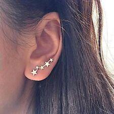 Star Ear Climber Stud Earrings Gold or Silver UK