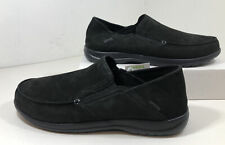 Crocs Men's Santa Cruz Convertible Leather Slipper - Black - Size 13