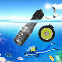 5000LM XM-L2 LED Scuba Diving Flashlight Torch 18650 Light Underwater Practical