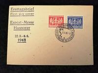 Deutschland Alliierte Besetzung 22.05.1948 - Brief Export Messe Hannover FDC