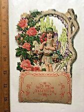 Beautiful 1922 Fold-down Valentine. 4 3/4 x 7 inches.