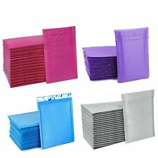 Any Color 0 65x 10 Poly Bubble Mailers Shipping Mailing Padded Bags 25 Pack
